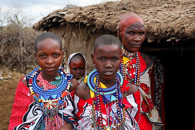 Masi women with beaded jewelry