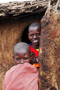 The children watch and smile