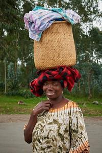 Woman at the Rwanda-Uganda Border