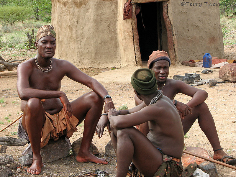 Himba men, Namibia