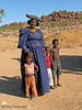 Herero woman and children - Road to Brandberg, Namibia