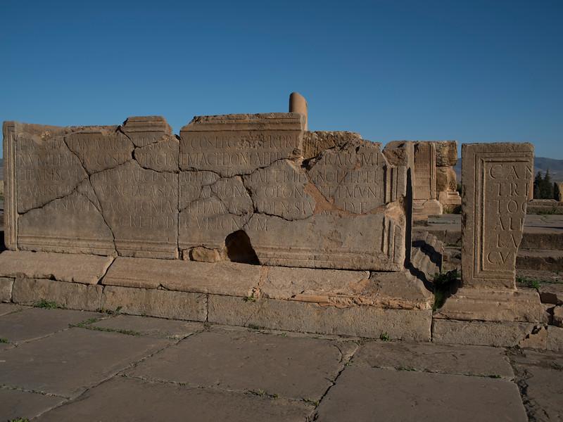 Inscriptions, Timgad