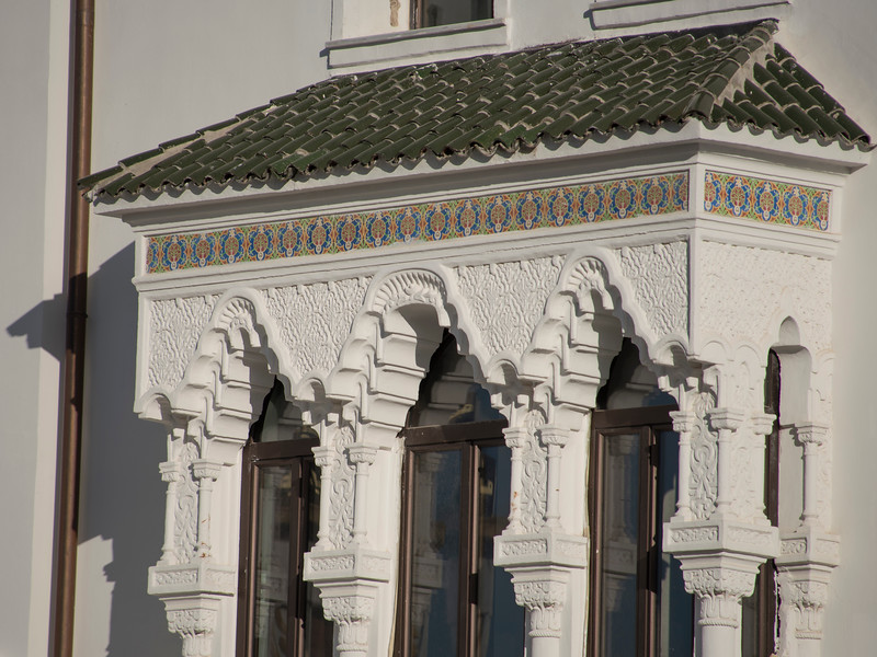 Detail, Grand Hotel Cirta, Constantine.  The old hotel was closed for renovation, but the outside was impressive.