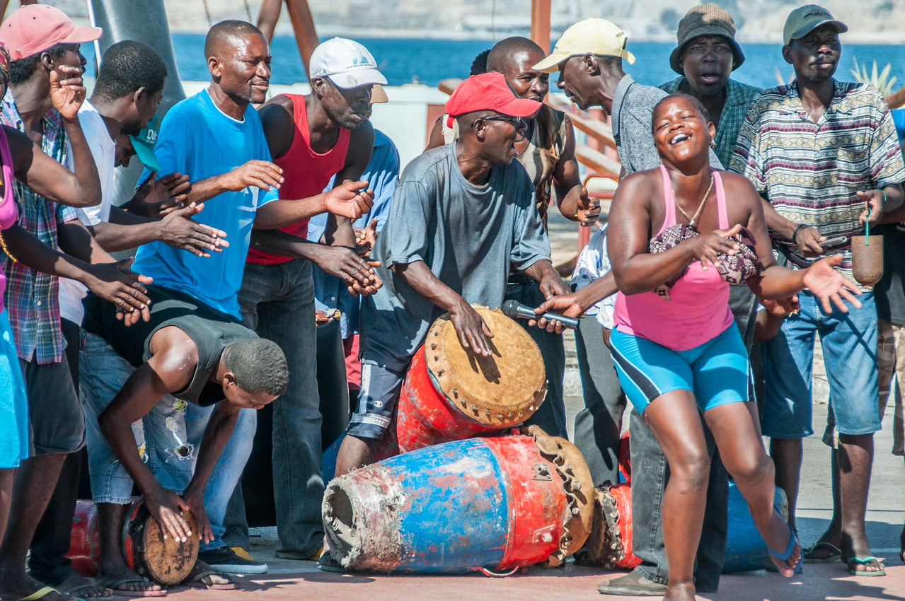 Street performer in Lobito, Angola