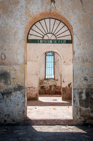 Doorway to old building in Lobito, Angola