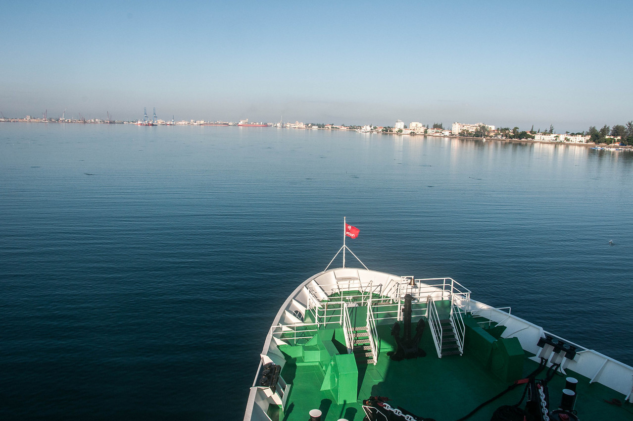 View of the G Expedition in Port in Lobito, Angola