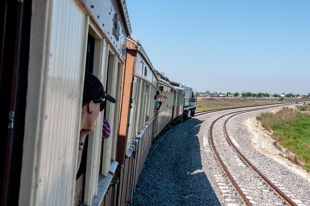 Inside the train in Lobito, Angola