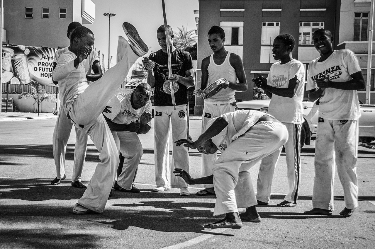 Street performers in Lobito, Angola