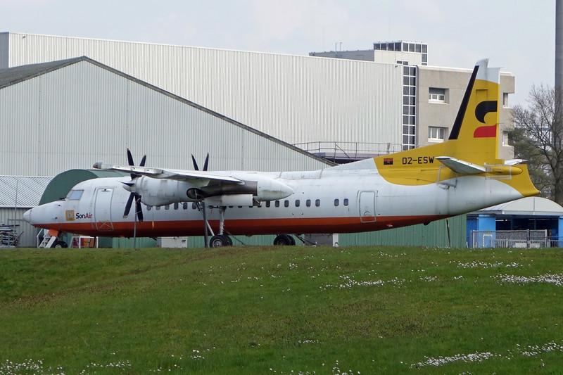"""D2-ESW Fokker 50 """"Sonair"""" c/n 20241 Woensdrecht/EHWO/WOE 24-03-14"""