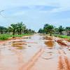 Flooded sand roads
