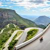 Cycling up the Serra da Leba