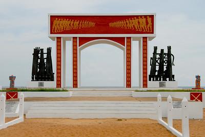 UNESCO slave memorail in Ouidah...