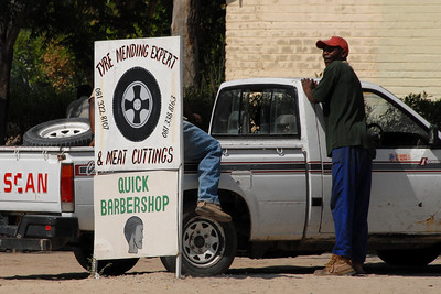 I was amused at the multi-talented signs in Botswana...