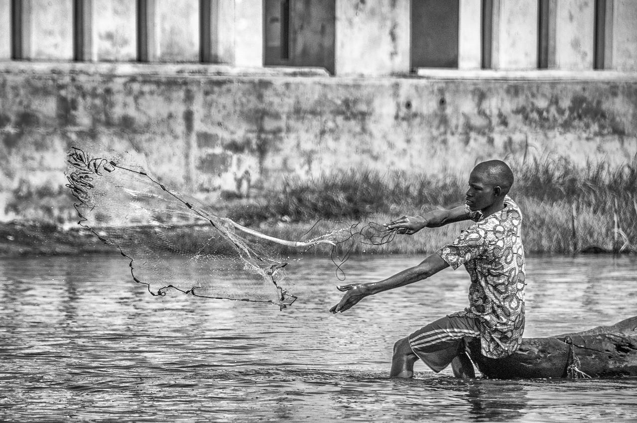 Fishing in Cotonou, Benin