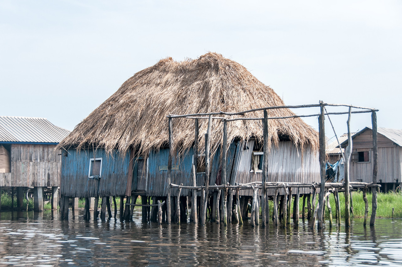 Traditional house in fishing village - Cotonou, Benin