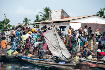 Fishing village in Cotonou, Benin