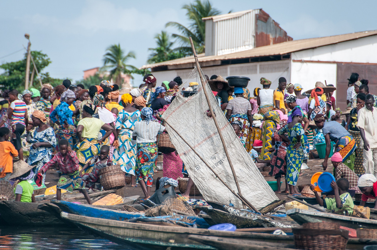 Fishing village in Cotonou, Benin