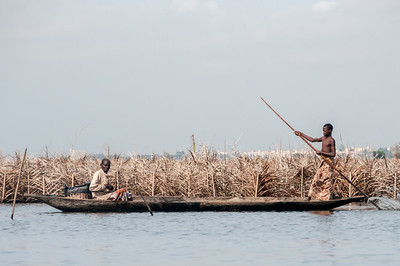 Fishing in a boat in Cotonou, Benin
