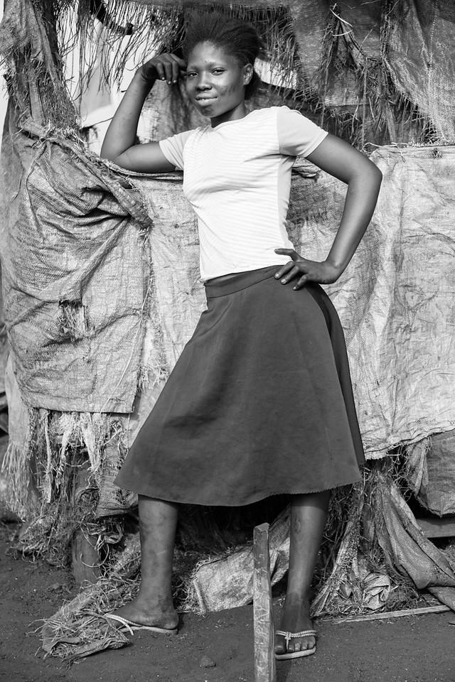 Girl Posing, Dantokpa Market, Cotonou