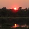 Sunset over the Okavango