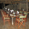 Mapula Lodge dining area - Buffets are served on the split log to the right.
