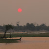 Smoky sunset on the Chobe