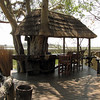 Mapula Lodge bar overlooking the delta - pool area is to the right
