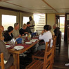 Dining aboard the Ichobezi - We slept on two boats, but dined together on one.