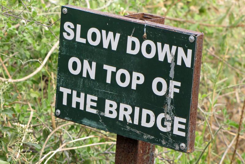 Sign at Third Bridge, Moremi...