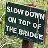 Sign at Third Bridge, Moremi...