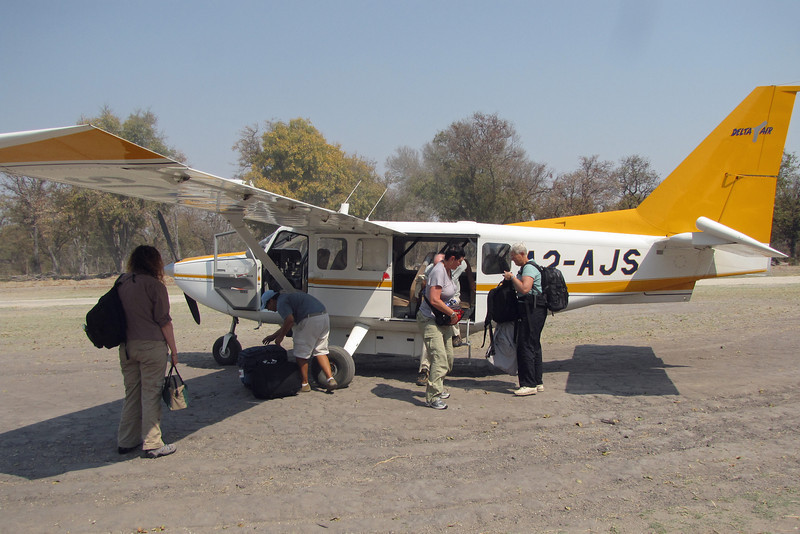 A 7-seater Cessna, the larger of our two planes