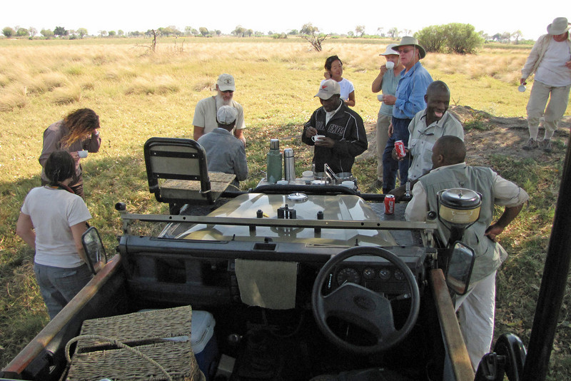 Taking a break out on the morning game drive