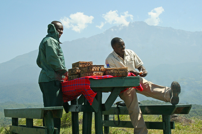 Guides Peter & Godliving With Mt. Meru in Background