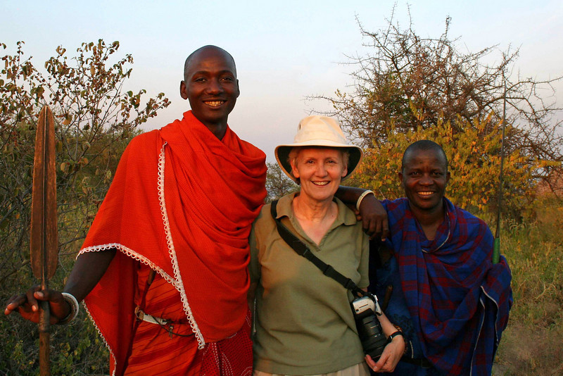 Sharon with Maasai Guides