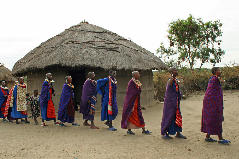 Maasai Village Near Tarangire