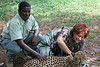 Kennedy, Fantastic Nairobi Guide, and Ann W with Cheetah