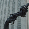 """Non-Violence"" - a sculpture gifted to the UN by Luxembourg."
