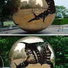 """Sphere within a Sphere"" - a sculpture gifted to the UN by Italy."