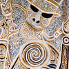 """Signs"" - a small portion of a Maori mural that was on exhibit in the lobby of the UN building."