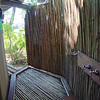 Our private outdoor shower was on a deck attached to the rear of the tent.