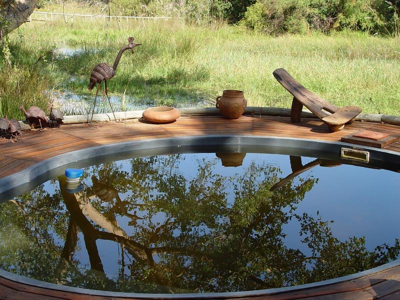 The plunge pool looked very attractive, but since it was winter the water was much too cold for a dip.