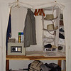 Our canvas closet had plenty of space for our gear; we even had a safe for our valuables.