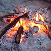 """The camp staff described the mesmerizing flames of the open fire as """"Bush TV - Channel 1."""""""