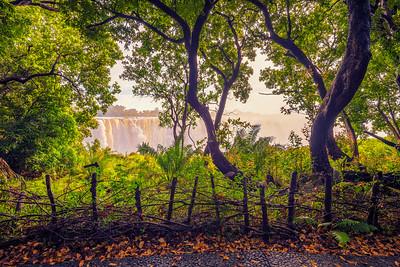 Victoria Falls on Zambezi River in Zimbabwe
