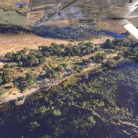 Okavango Delta from Above - Botswana
