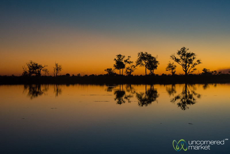 Sunset Reflections - Camp Xakanaxa, Botswana