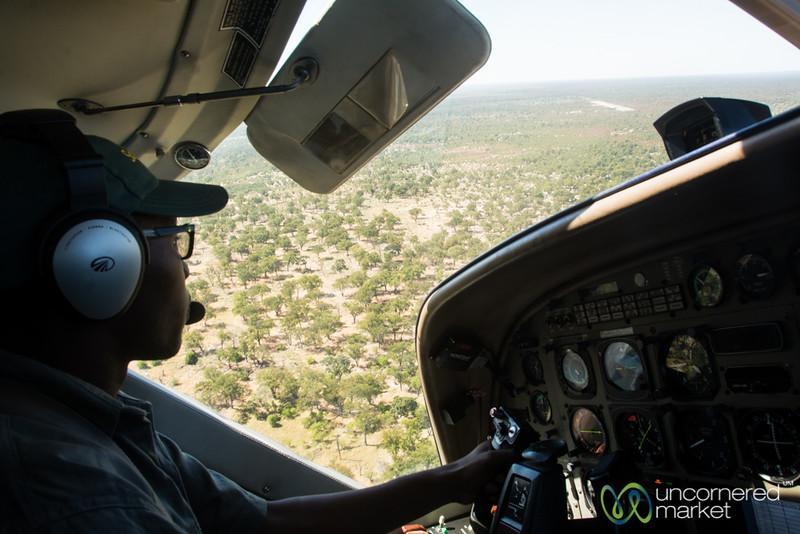 Botswana from Above - Flying into Camp Xakanaxa