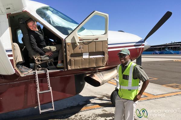 Co-Pilot Audrey on a Botswana Bush Flight