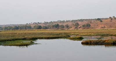 Chobe River and flood plain, Chobe National Park, Botswana