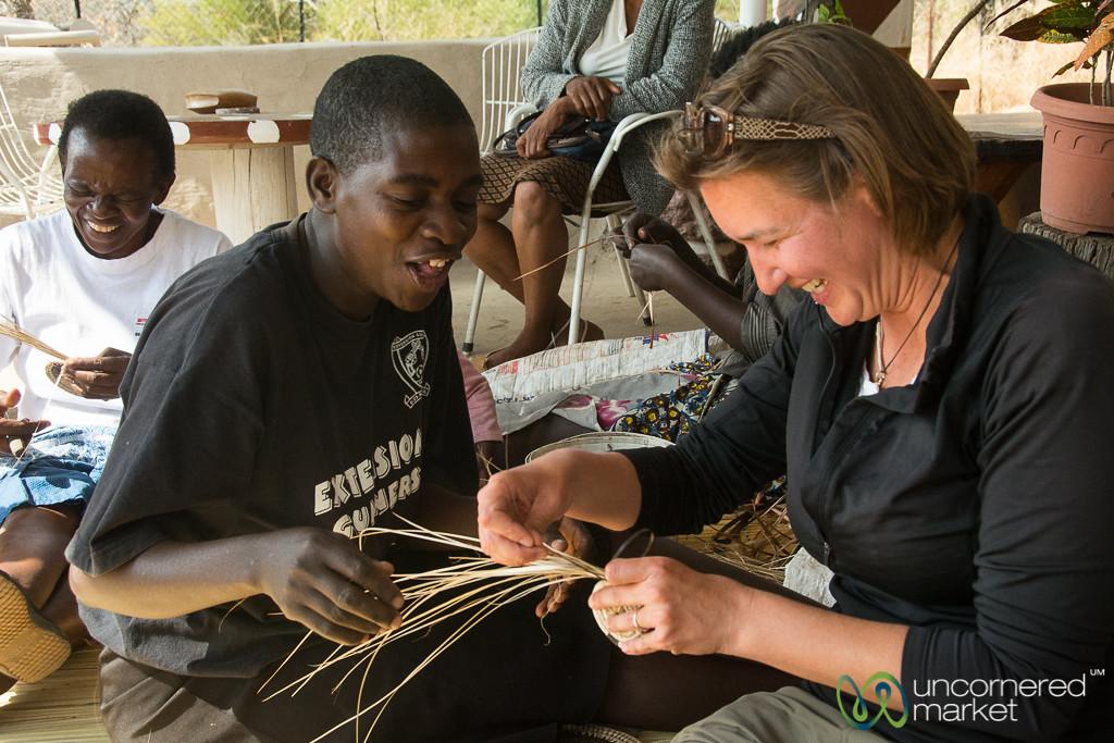 Basket Weaving Attempts - Kachikau, Botswana